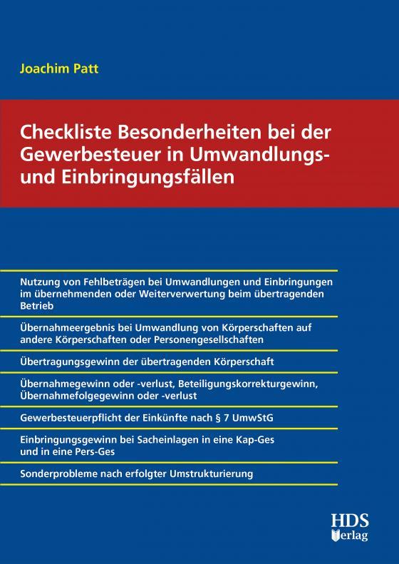 Cover-Bild Checkliste Besonderheiten bei der Gewerbesteuer in Umwandlungs- und Einbringungsfällen