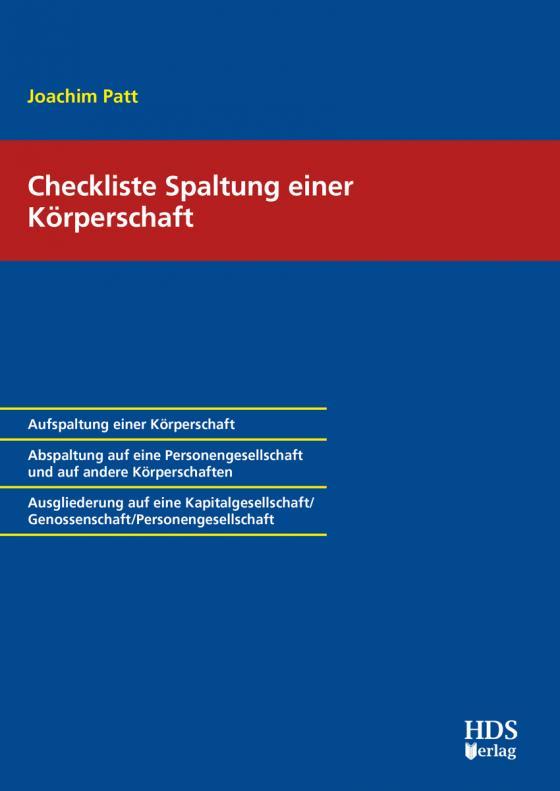 Cover-Bild Checkliste Spaltung einer Körperschaft