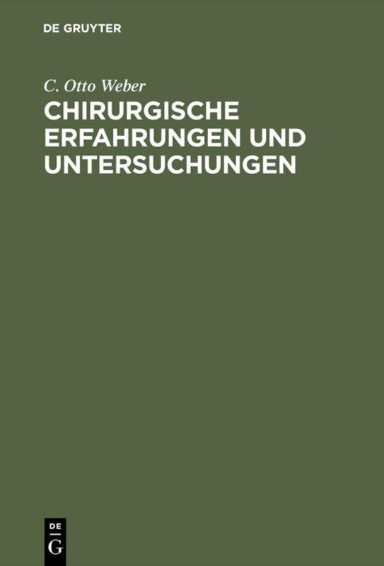 Cover-Bild Chirurgische Erfahrungen und Untersuchungen