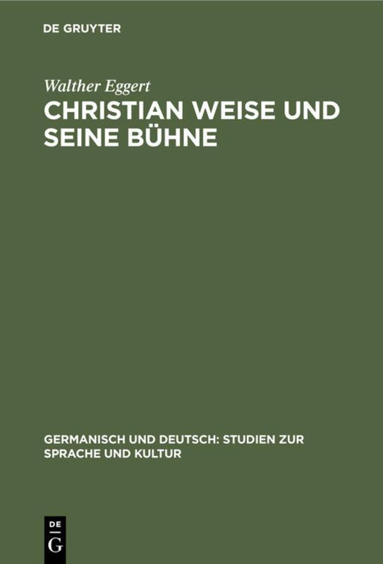 Cover-Bild Christian Weise und seine Bühne