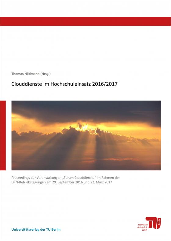 Cover-Bild Clouddienste im Hochschuleinsatz 2016/2017