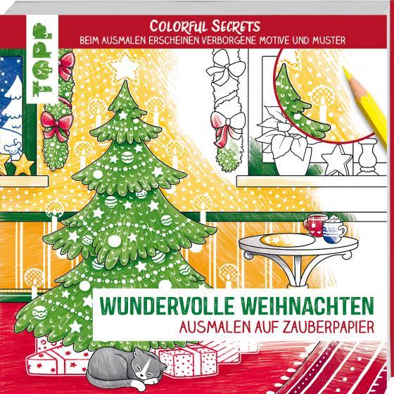 Cover-Bild Colorful Secrets - Wundervolle Weihnachten (Ausmalen auf Zauberpapier)