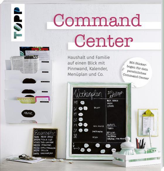 command center haushalt und familie auf einen blick mit pinnwand kalender men plan und co. Black Bedroom Furniture Sets. Home Design Ideas