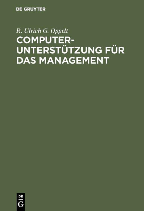 Cover-Bild Computerunterstützung für das Management