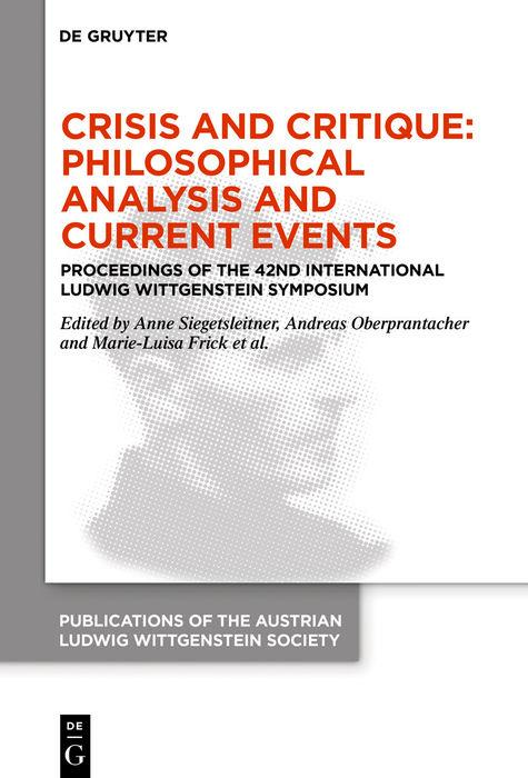 Cover-Bild Crisis and Critique: Philosophical Analysis and Current Events