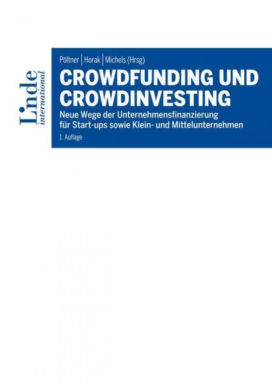 Cover-Bild Crowdfunding und Crowdinvesting