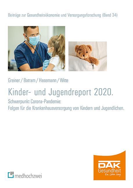 Cover-Bild DAK Kinder- und Jugendreport 2020