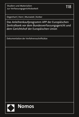 Cover-Bild Das Anleihenkaufprogramm APP der Europäischen Zentralbank vor dem Bundesverfassungsgericht und dem Gerichtshof der Europäischen Union