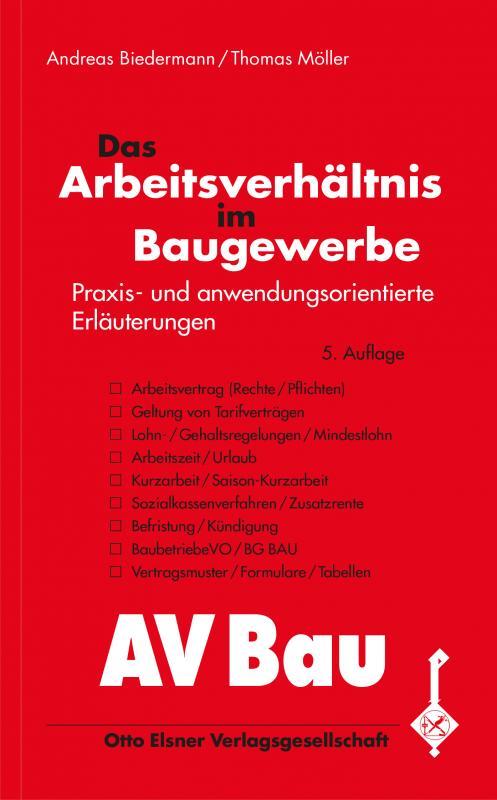 Cover-Bild Das Arbeitsverhältnis im Baugewerbe