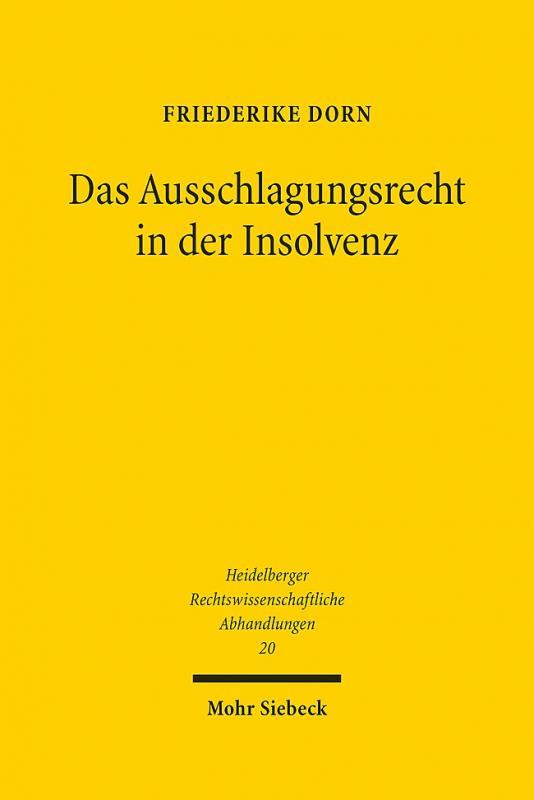 Cover-Bild Das Ausschlagungsrecht in der Insolvenz