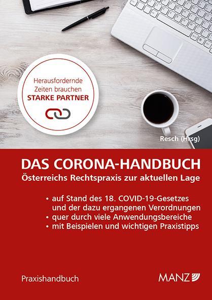 Cover-Bild Das Corona-Handbuch Österreichs Rechtspraxis zur aktuellen Lage
