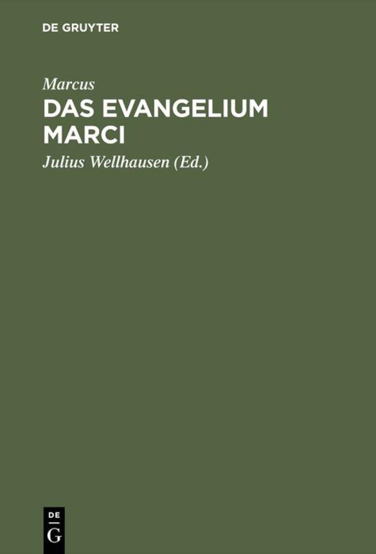 Cover-Bild Das Evangelium Marci