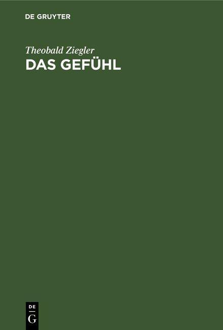 Cover-Bild Das Gefühl