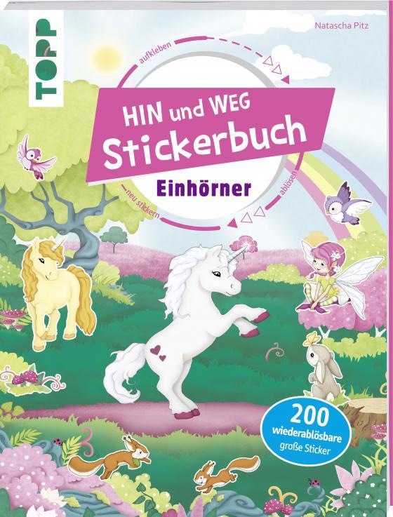 Cover-Bild Das Hin-und-weg-Stickerbuch. Einhörner