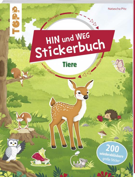 Cover-Bild Das Hin-und-weg-Stickerbuch. Tiere