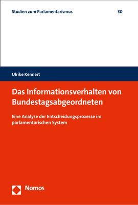 Cover-Bild Das Informationsverhalten von Bundestagsabgeordneten