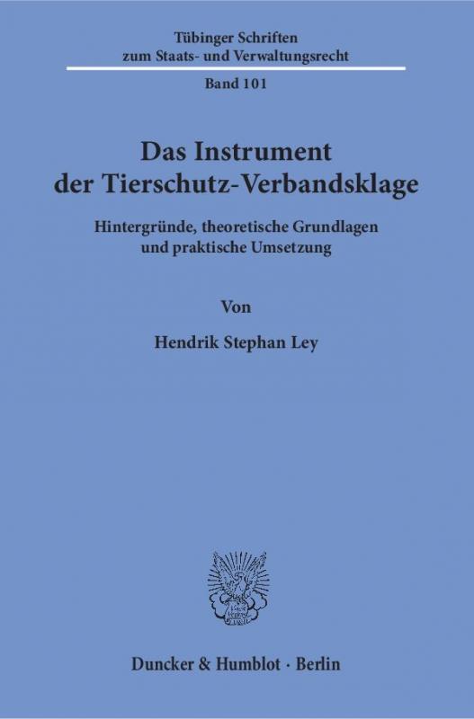 Cover-Bild Das Instrument der Tierschutz-Verbandsklage.
