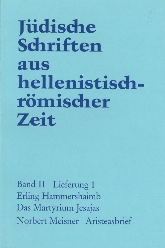 Cover-Bild Das Martyrium Jesajas. Aristeasbrief