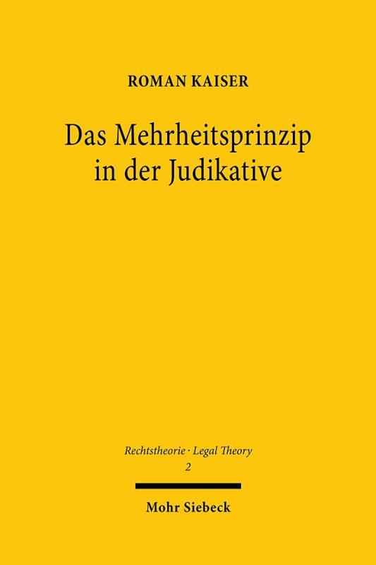 Cover-Bild Das Mehrheitsprinzip in der Judikative
