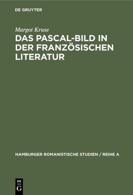Cover-Bild Das Pascal-Bild in der französischen Literatur
