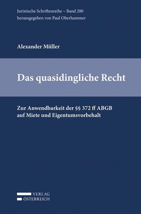 Cover-Bild Das quasidingliche Recht