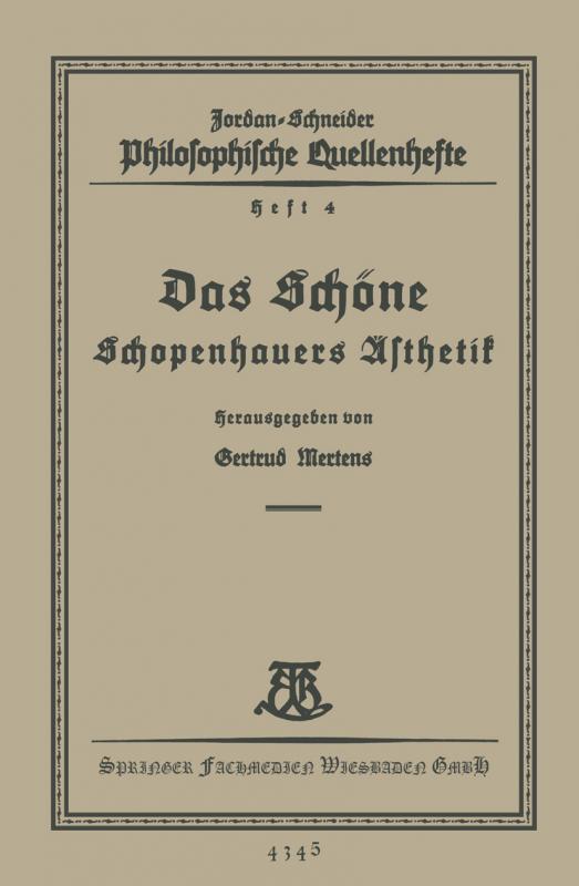 Cover-Bild Das Schöne