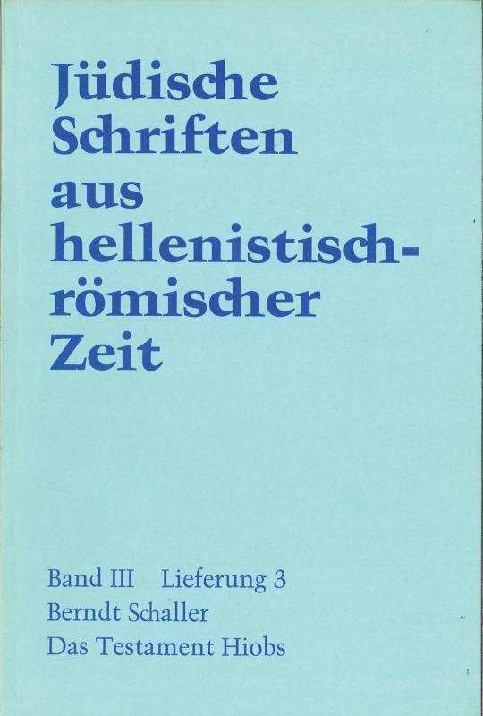 Cover-Bild Das Testament Hiobs