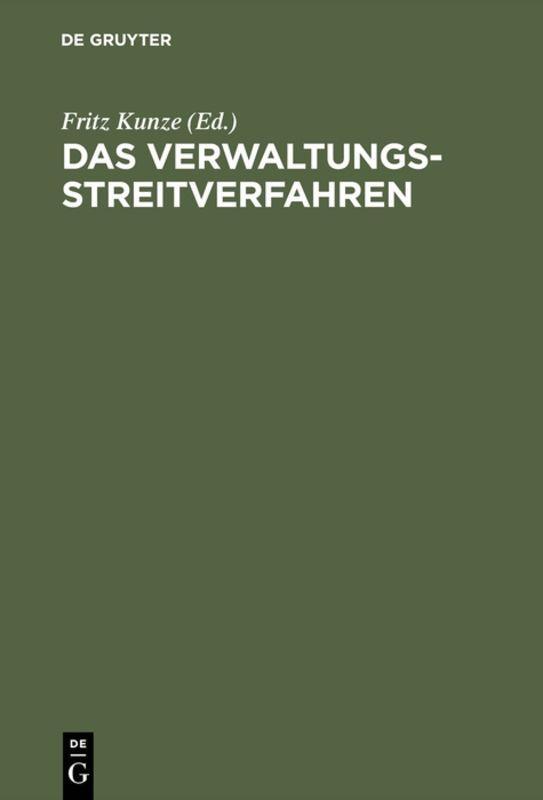 Cover-Bild Das Verwaltungsstreitverfahren