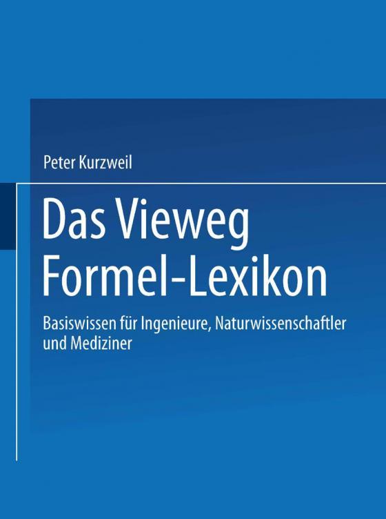 Cover-Bild Das Vieweg Formel-Lexikon