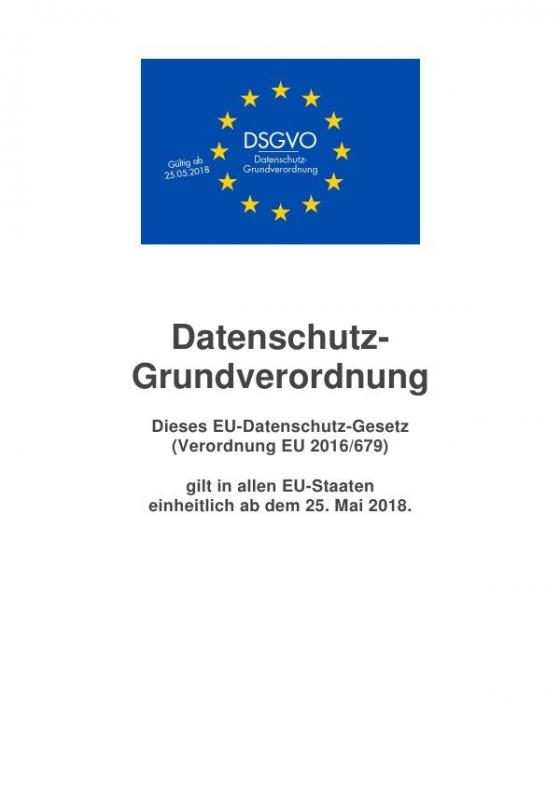 Cover-Bild Datenschutz-Grundverordnung