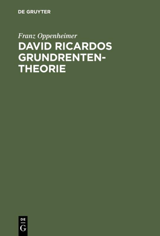 Cover-Bild David Ricardos Grundrententheorie