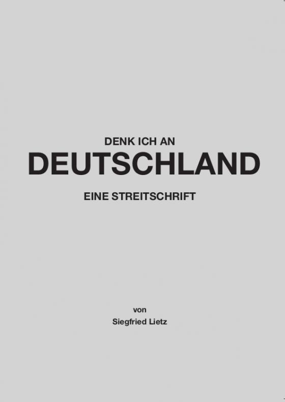Cover-Bild Denk ich an Deutschland