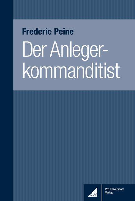 Cover-Bild Der Anlegerkommanditist