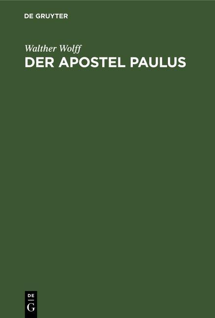 Cover-Bild Der Apostel Paulus