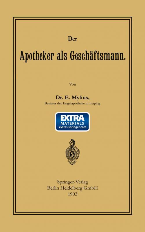 Cover-Bild Der Apotheker als Geschäftsmann
