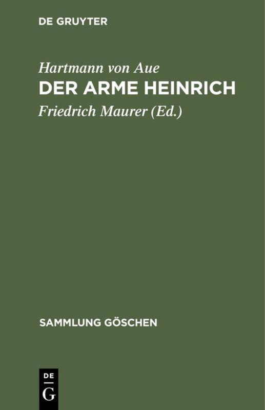 Cover-Bild Der arme Heinrich