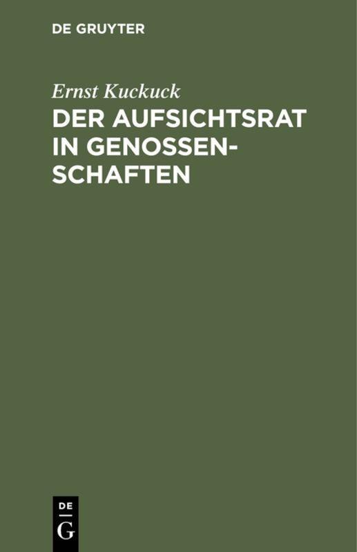 Cover-Bild Der Aufsichtsrat in Genossenschaften