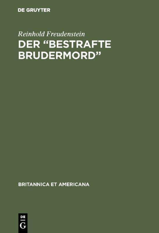 "Cover-Bild Der ""Bestrafte Brudermord"""