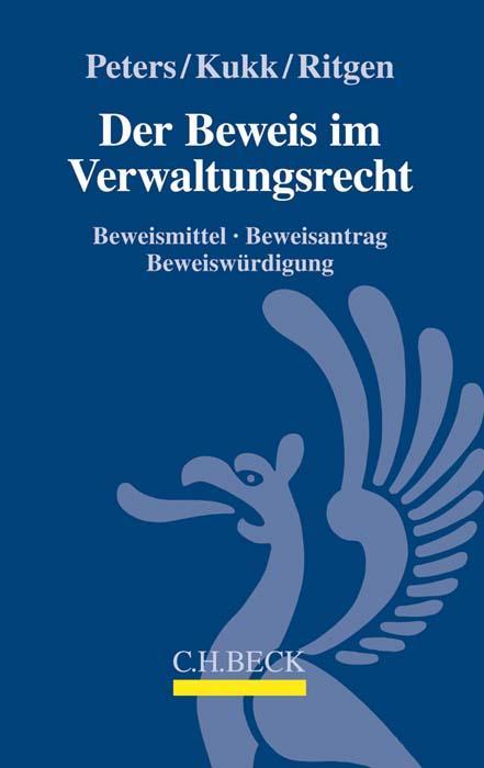 Cover-Bild Der Beweis im Verwaltungsrecht