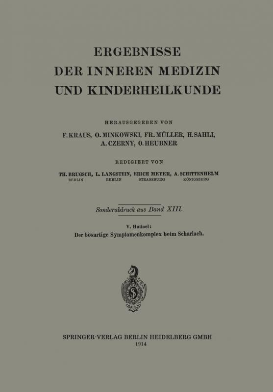 Cover-Bild Der bösartige Symptomenkomplex beim Scharlach
