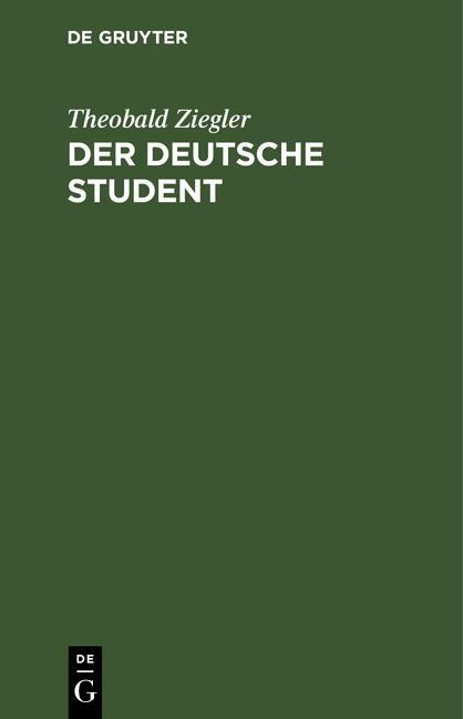 Cover-Bild Der deutsche Student