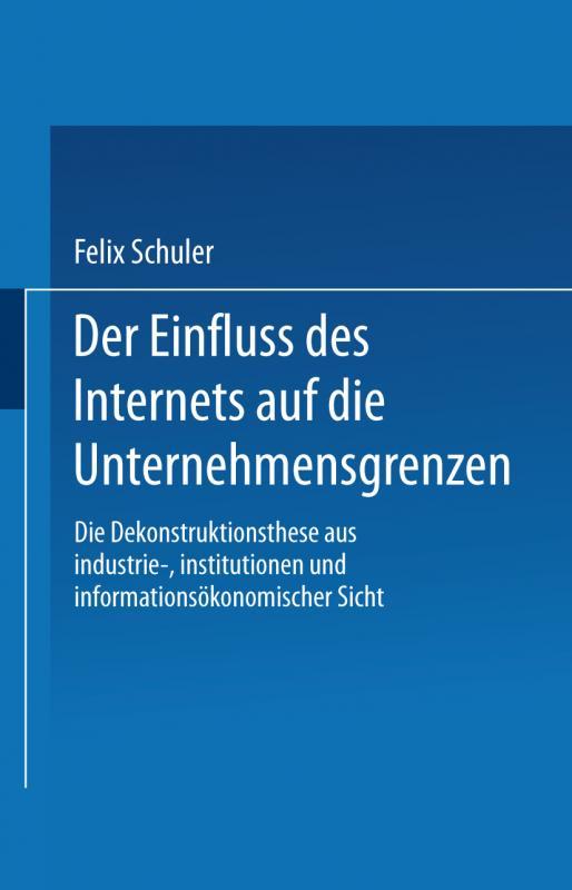 Cover-Bild Der Einfluss des Internets auf die Unternehmensgrenzen