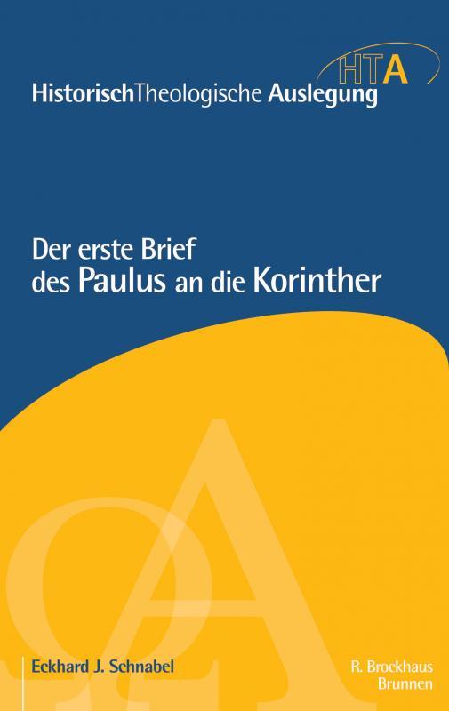 Cover-Bild Der erste Brief des Paulus an die Korinther