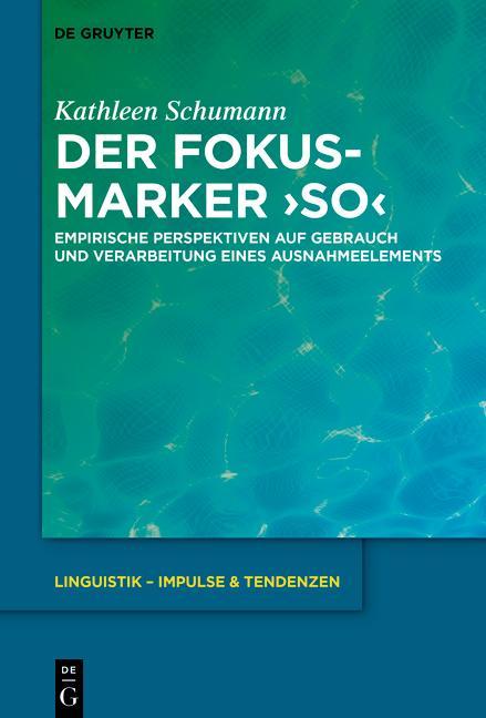 Cover-Bild Der Fokusmarker 'so'