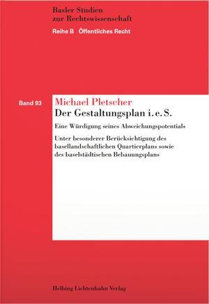 Cover-Bild Der Gestaltungsplan i.e.S.