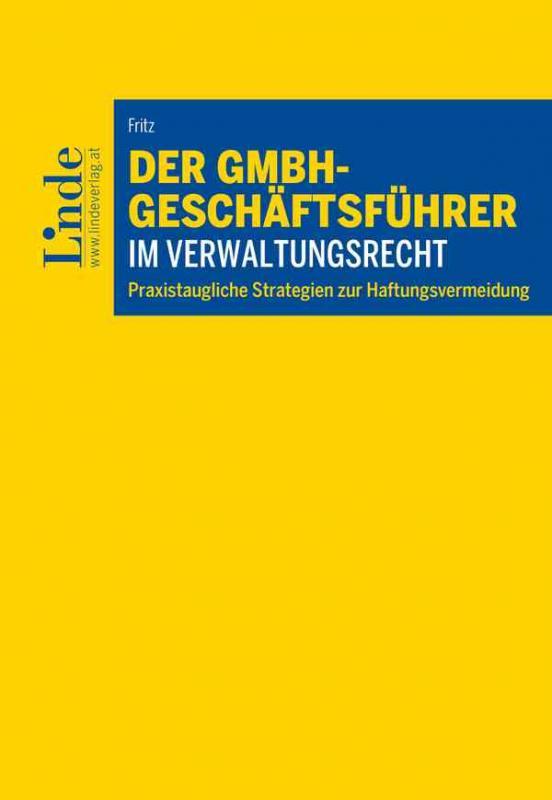 Cover-Bild Der GmbH-Geschäftsführer im Verwaltungsrecht
