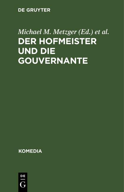 Cover-Bild Der Hofmeister und die Gouvernante