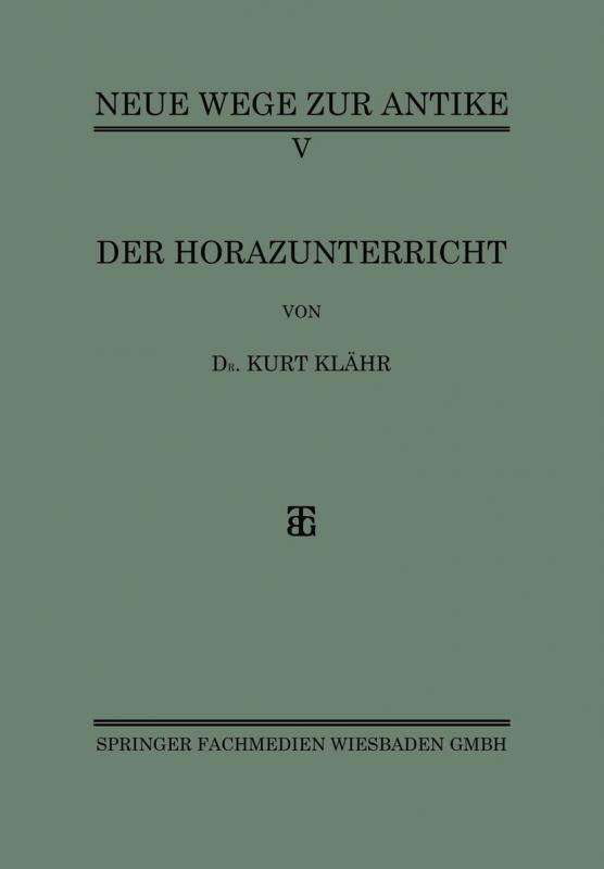 Cover-Bild Der Horazunterricht