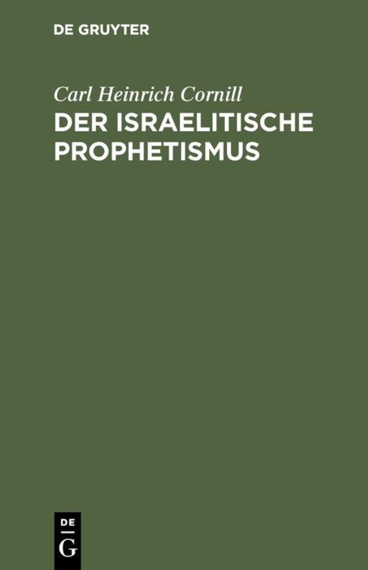 Cover-Bild Der israelitische Prophetismus