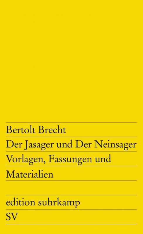 Cover-Bild Der Jasager und Der Neinsager